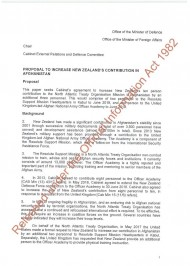 ERD 17 SUB 0024 Proposal to increase New Zealands Contribution in Afghanistan